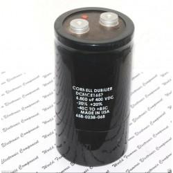 美國CDE 6800uF (6800µF) 400V DCMCE1653 鎖螺絲型 濾波電容