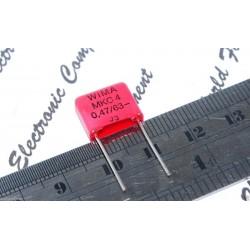 WIMA MKC4 0.47uF (470nF) 63V 5% 腳距:10mm Polycarbonate 金屬膜電容器