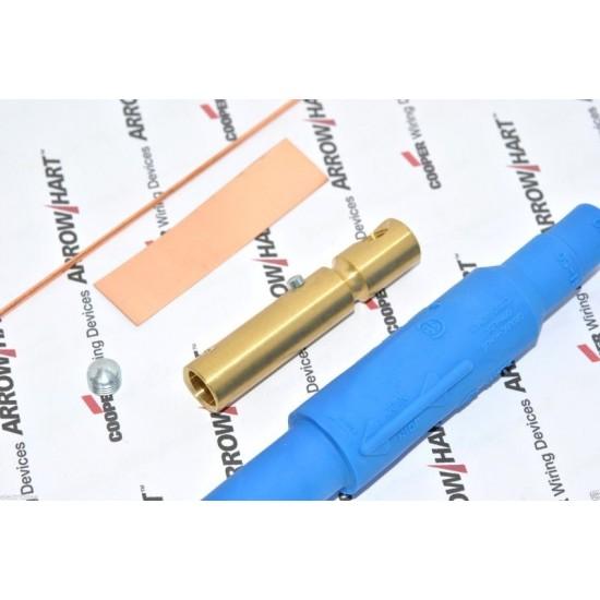 COOPER E1015-8338 150A 600V Cam-Lok J Powe 藍色 大電流電源母頭