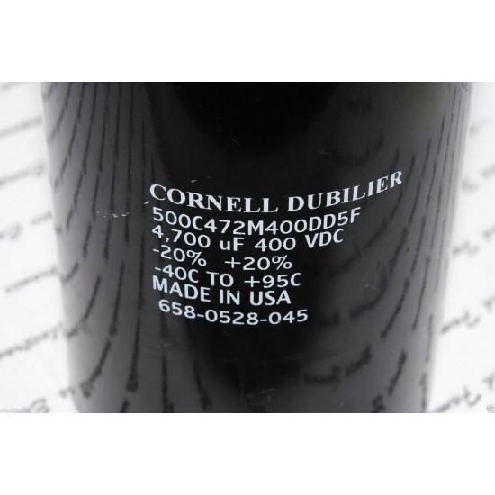 美國CDE 4700uF 400V 500C472M400DD5F 鎖螺絲型 濾波電容