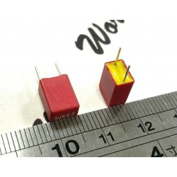 WIMA MKS2 1uF 63V 10% 腳距:5mm MKS2C041001F00KSSD 金屬膜電容 x 1