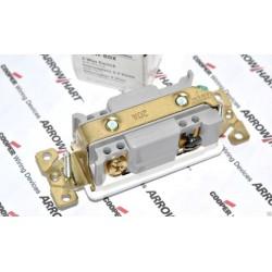 美國 COOPER 三線式(三路) 單開單聯電源開關 電燈開關 白色 7623W 20A 120/277V 方形蹺蹺板式 買就送白色尼龍蓋板∼限量