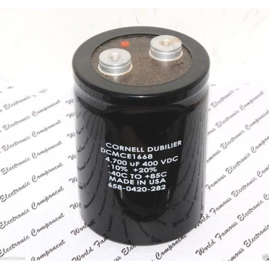 美國CDE 4700uF (4700µF) 400V DCMCE1668 鎖螺絲型 濾波電容NG