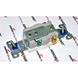 美國 COOPER 1876W 20A 250V NEMA6-20R 白色單孔電源座/插座 - Single