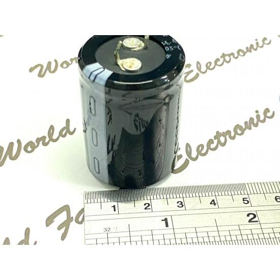 1個- 德國ROE EYS07 10000uf 40V 牛角型 立式電解電容
