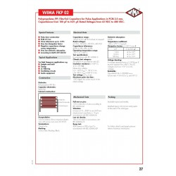 德國WIMA FKP02 330P 100V 2.5% 腳距:2.5mm FKP0D003300B00HSSD 電容x1