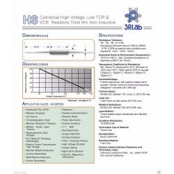 3RLab HS52 20M 1% 5W 15KV 厚膜高壓無感電阻