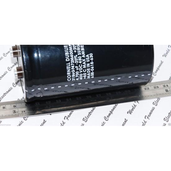 美國CDE 4700uF 400V 3186GF472M400MPC1 鎖螺絲型 濾波電容