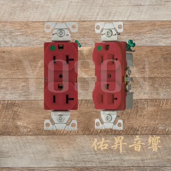 美國 EATON COOPER 8300W RD 白 紅 20A 125V  醫療級插座  節能省電 最安全 DUPLEX型