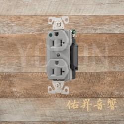 美國 EATON COOPER  AH8300GY 20A 125V 灰色 醫療級插座 節能省電 最安全 DUPLEX型【台灣唯一獨家代理】