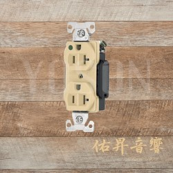 美國 EATON COOPER  AH8300V 20A 125V 米色 醫療級插座  節能省電 最安全 DUPLEX型【台灣唯一獨家代理】