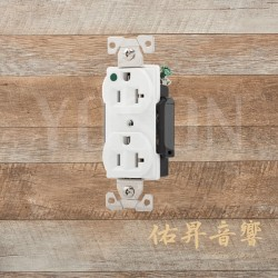 美國 EATON COOPER  AH8300W 20A 125V 白色 醫療級插座 節能省電 最安全 DUPLEX型【台灣唯一獨家代理】