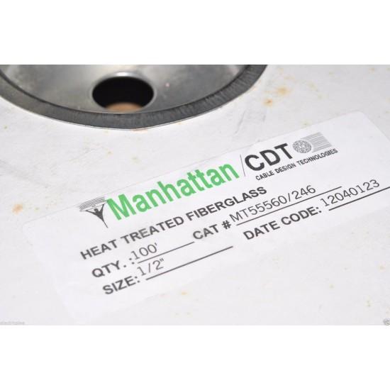 1公尺-Manhattan F240-1/2 (13mm) 240°C 玻璃纖維 耐高溫套管