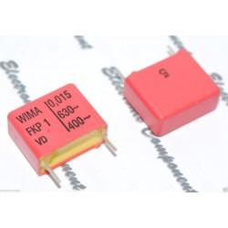 德國WIMA FKP1 0.015uF 630V 5% 腳距:15mm 金屬膜電容器