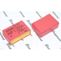 德國WIMA FKP1 0.01uf 2000V 5% 腳距:27mm 金屬膜電容
