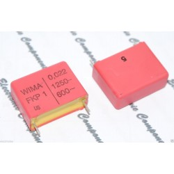 德國WIMA FKP1 0.022uF 1250V 5% 腳距:22.5mm 金屬膜電容器