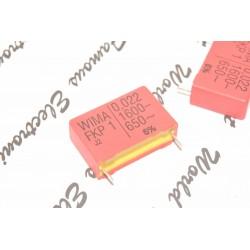 德國WIMA FKP1 0.022uF 1600V 5% 腳距:27.5mm 金屬膜電容