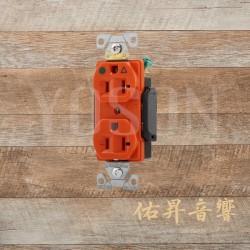 [熱賣中] 美國 EATON COOPER IG8300RN 125V 20A 橘色 獨立接地 醫療級插座 節能省電 最安全 DUPLEX型 (贈送尼龍或白鐵蓋板)