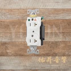 [熱賣中] 美國 EATON COOPER IG8300W 125V 20A 白色 獨立接地 醫療級插座 節能省電 最安全 DUPLEX型 (贈送尼龍或白鐵蓋板)