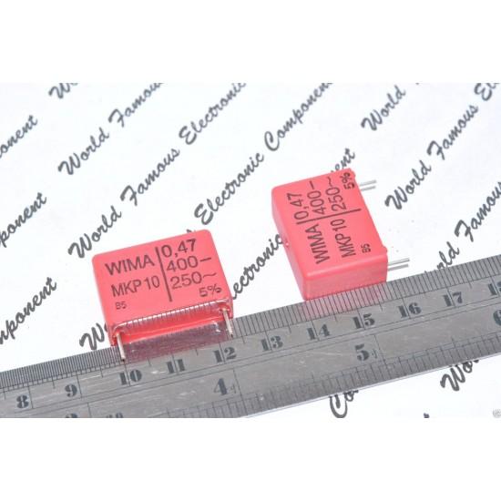 德國WIMA MKP10 0.47uF(470nF) 400V 5% 腳距:22.5mm 金屬膜電容器