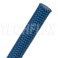 1公尺-美國Techflex PTT0.25BNB (6.4mm) 套管(隔離網/編織網)  黑色混藍