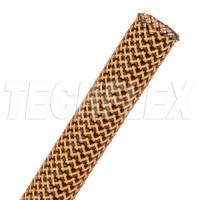 1公尺-美國Techflex PTT0.25BNO (6.4mm) 套管(隔離網/編織網)  黑色混橘