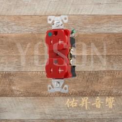 美國 EATON COOPER TR8300RD 125V 20A 紅色  醫療級 防誤觸插座  節能省電 最安全 DUPLEX型