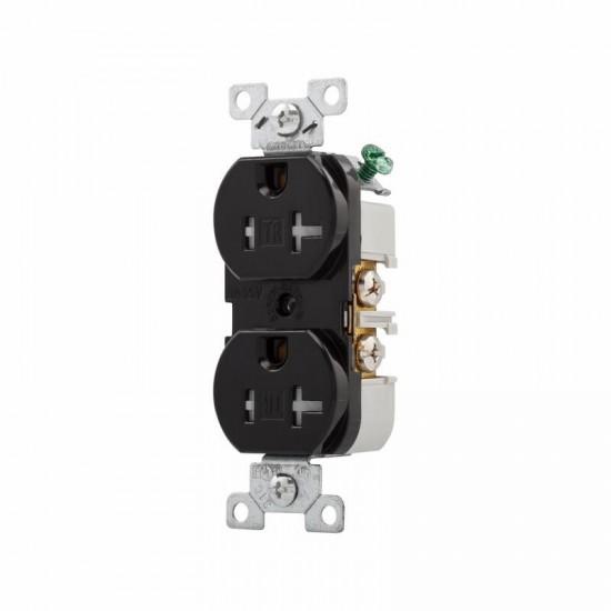 美國 EATON COOPER TRBR20BK 125V 20A 5-20R 防誤觸 防觸電 黑色商用級 插座 Duplex