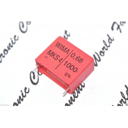德國WIMA MKS4 0.68uF 1000V 5% 腳距:27.5mm 金屬膜電容器