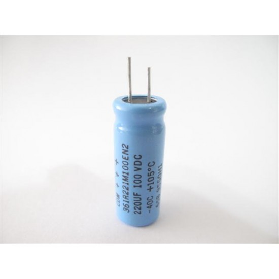 美國CDE立式電解電容器220uF/100V/D12L33d5(mm)