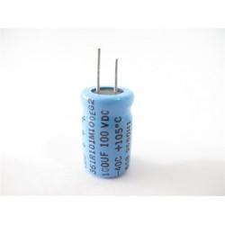 美國CDE立式電解電容器100uF/100V/D12L20d5(mm)