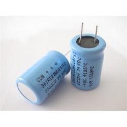 美國CDE立式電解電容器2200uF/25V/D16L25d7.5(mm)