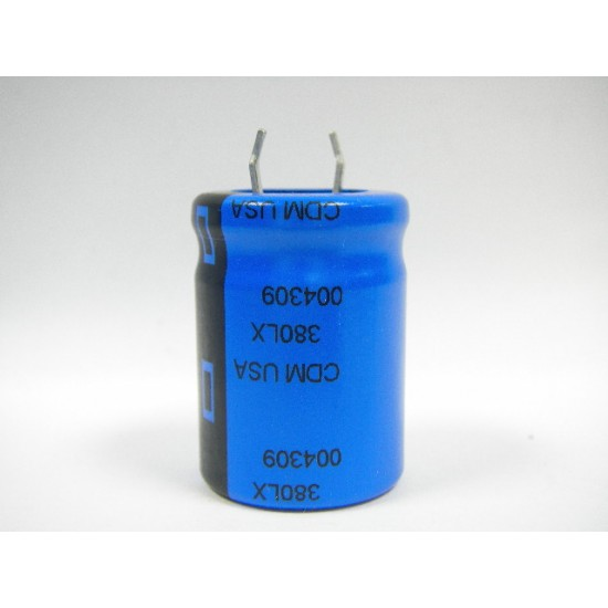 美國CDE立式電解電容器8200uF/25V/D22L30d10(mm)