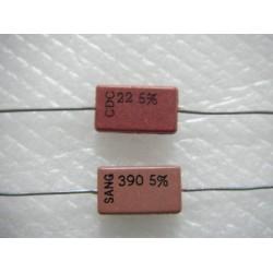 美國CDE臥式銀雲母電容器 22P 500V 5%