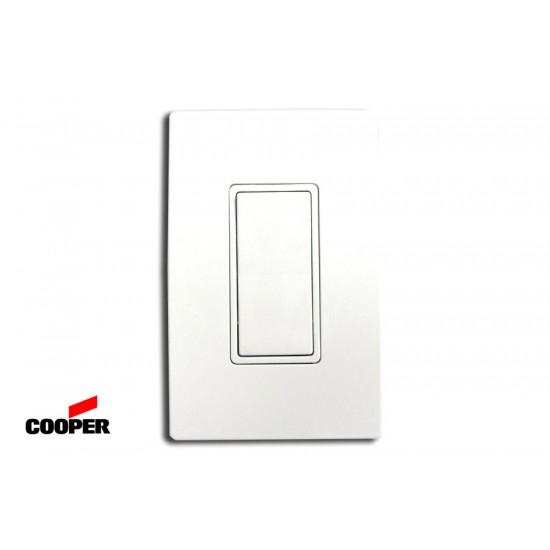 [特價中] 美國COOPER 7621W 單線式 單開單聯電源開關 電燈開關 20A 方形蹺蹺板式 白色 (搭配PJS26W 面板)