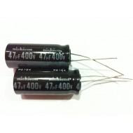 日本NICHICON立式電解電容/47uF/400V/D12.5*H30.5,P10(mm)