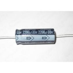 日本NICHICON VX 2200uF 35V D16L42(mm) 臥式電解電容