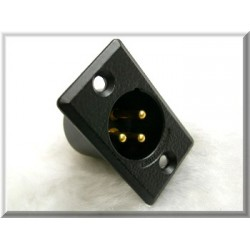 Switchcraft 鍍金接點 CANNON(XLR)平衡接頭 公座