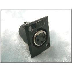 Switchcraft 鍍金接點 CANNON(XLR)平衡接頭 母座